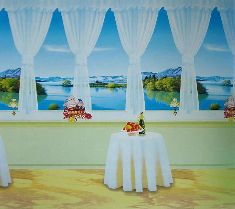 遮光卷帘,风景图案卷帘,古诗题材类卷帘